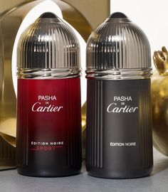 Add a bit of luxury to his fragrance collection with Pasha de Cartier Edition Noire cologne