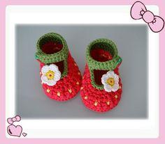 Handmade Crochet Baby Shoes Crocheting Baby Footwear Woven Shoes(LJ3). $5.99, via Etsy.