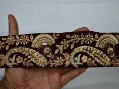 Wholesale Maroon Embroidery Saree Border Embroidered Laces Trims Velvet Fabric Trim By 9 Yard Trimmings Ribbon Indian Sari Border gold You can purchase from link or What's App no. is We also take wholesale inquiries. Hand Embroidery Dress, Embroidery Saree, Indian Embroidery, Diy Belts, Saree Border, Fashion Tape, Sewing Trim, Silver Work, Passementerie