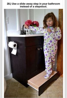 I've long thought about this problem- how to have a nice looking bathroom with children- this is the perfect solution.