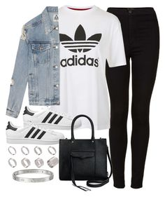 Untitled #3275 by plainly-marie on Polyvore featuring polyvore, fashion, style, Topshop, UNIF, adidas Originals, Rebecca Minkoff, ASOS, Mariiestopset and mariieslikedsets