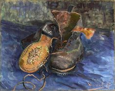 Van Gogh, A Pair of Boots, early Oil on canvas, x cm. The Baltimore Museum of Art, Maryland. Van Gogh: The Life Rembrandt, Vincent Van Gogh, Dutch Artists, Famous Artists, Claude Monet, Van Gogh Museum, Art Museum, Desenhos Van Gogh, Van Gogh Arte