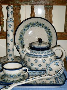 Lovely collection of Polish pottery