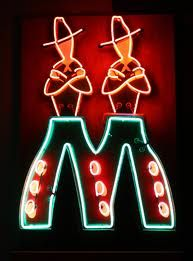 twin cowboys Neon sign