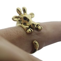 Gold and Silver Bull Animal Wrap Rings