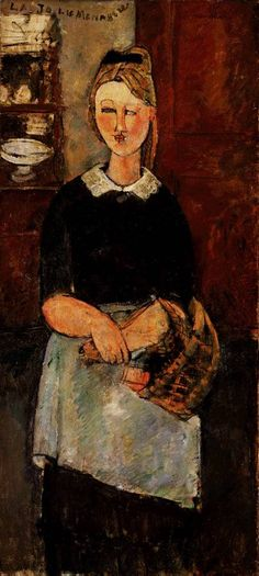 Amadeo Modigliani,  The Pretty Housewife, 1915 http://artmight.com/Artists/Modigliani-Amedeo-Italian-1884-1920/Modigliani-The-Pretty-Housewife-1915-Barnes-foundation-272298p.html
