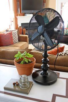 Old lamp base + $7 fan = high end fan. Dwellings By DeVore: I love it when a plan comes together