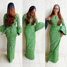35 Fashionable Ways You Can Slay Your Ankara Style - Wedding Digest Naija African Lace Styles, African Dresses For Women, African Print Dresses, African Attire, African Wear, African Women, African Outfits, African Clothes, African Beauty