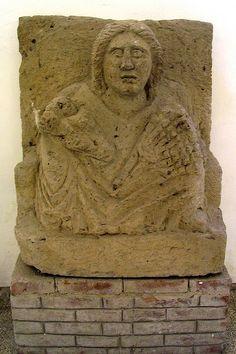 From the Sanctuary of Mater Matuta at Fondo Patturelli - S. Maria Capua Vetere (CE) . Tufo, 2nd-1st century BCE.  Museo Provinciale Campano di Capua.