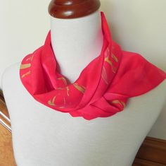 Hand Dyed Silk Scarf in Samba Red and Golden by RosyDaysScarves, $29.95
