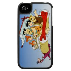 Fred Flintstone Wilma Barney and Betty Pebbles Bam iPhone 4 Cover