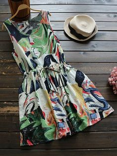 GET $50 NOW | Join Zaful: Get YOUR $50 NOW!http://m.zaful.com/sleeveless-abstract-print-drawstring-waist-dress-p_273006.html?seid=2f377lajefb48qgf0hpbo7n6v0zf273006