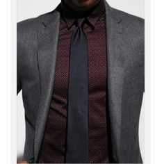 Mixing darker colours and patterns to great effect. www.memysuitandtie.com