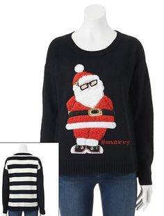 It's Our Time Santa Ugly Christmas Sweater - Juniors #Kohls
