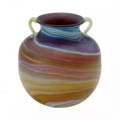 Phoenician Glass Vase. Recycled glass. Hebron Glass & Ceramic Factory. West Bank. @TenThousandVillages.com