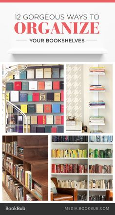 The perfect bookshelf decorating ideas! Check out these 12 creative ways to organize your bookshelves.