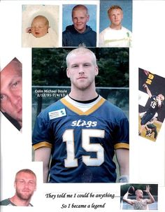 """Michael Doyle's #OneDegree """"My son Colin Michael Doyle...Courageously fought this demon called """"Undifferentiated Sarcoma"""" from the time of diagnosis 11/14/11 at age 20, to his passing 7/4/13 at age 22.. He never gave up, he never gave in. """"Heroes get remembered, but Legends never die"""""""