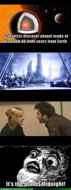 I find it really creepy when Doctor Who episodes come true. Like the water on mars. NOT COOL.