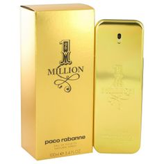 Paco Rabanne 1 Million marks the return of asserted masculine seduction. A spicy leathery scent that evokes fantasy and desire, arouses every envy and exudes a magnetic confidence. The iconic gold-bar bottle symbolizes 1 Million's undeniable attractive powers. No-one can resist this charmer who lives however and wherever he likes.   A fresh and sparkling top note ready to charm us: Blood mandarin, Peppermint  A very contrasted and intense middle note that combines refined sensuality with ...