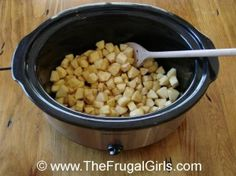 How To Make Homemade Crockpot Applesauce in Breakfast Recipes, Chic and Crafty, Crockpot Recipe, Fall, Recipes