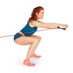 Turn-and-Burn Squat: works your shoulders, arms, abs, butt and legs at once