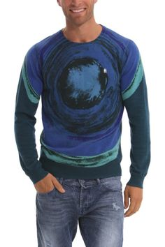 "Desigual Men's Sweater ""Fun"" 40J1100 