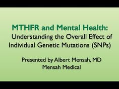"""MTHFR and Mental Health: Understanding the Overall Effect of Individual Genetic Mutations SNPs"" - YouTube"