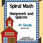 This Common Core aligned homework and quiz pack is designed to keep the key standards that your students must know constantly on their brain.  This...