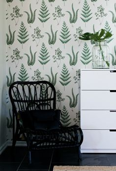 Comfort Zone, Pattern Wallpaper, Ferns, Wabi Sabi, Cottage, Tapestry, Interior Design, Country, Bedroom