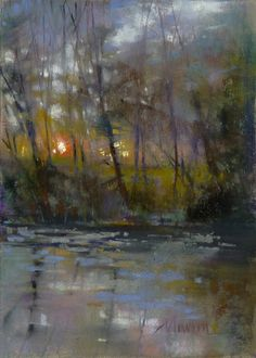 Barbara Newton Art Journal: A worthless reference photo? Pastel Landscape, Abstract Landscape Painting, Fantasy Landscape, Watercolor Landscape, Landscape Art, Landscape Paintings, Abstract Oil, Abstract Paintings, Oil Paintings