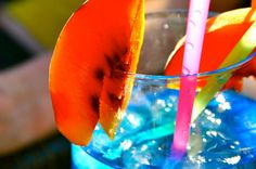the wonderful colors of an island drink!