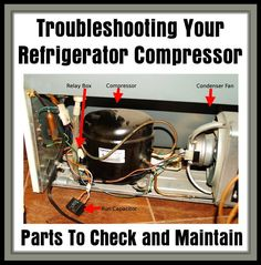 Troubleshooting Your Refrigerator Compressor – Is Your Refrigerator Running? Hvac Air Conditioning, Refrigeration And Air Conditioning, Hvac Filters, Hinge And Bracket, Refrigerator Compressor, Electronic Circuit Projects, Electronics Basics, Diy Cnc, Appliance Repair