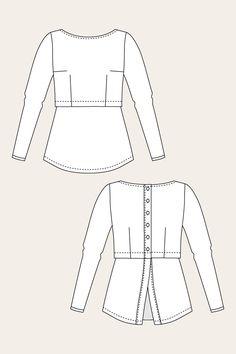 Kanerva Button Back Shirt - Named
