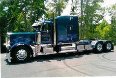 "Gooch Trucking's ""Old Blue"" is a custom 1996 Peterbilt 379."