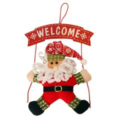 Iusun Christmas Decoration Snowman Garland Wreath Xmas Tree Party Home Wall Door Ornaments (Red) * Startling review available here  : Garden Christmas Wreaths