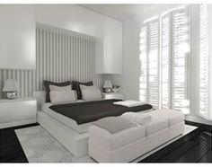Apartament letni - Średnia sypialnia małżeńska z balkonem / tarasem, styl minimalistyczny - zdjęcie od Capricorn Interiors