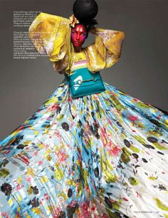 Futuristic Geisha Editorials - Eugenia Volodina by Ishi for Vogue Netherlands March 2013 is Fierce (GALLERY) #fashion #photography #japanese #geisha