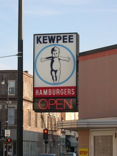Kewpee's in Racine, Wi. A blast from my past! We still try to get there every trip back.