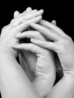 Alginate can be used to make hand castings that can be quite artistic. This pose of three generations of ladies' hands are reminiscent of a dance. For details, visit www.accu-cast.us
