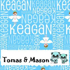 Keagan Design, choose your own name, colours and image. Cot and pram sizes available