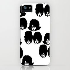 Bouffant Girls II iPhone Case by Bouffants and Broken Hearts - $35.00 Free shipping through Monday!!
