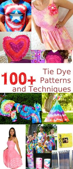 Get ready for summer with this epic collection of 100+ Tie Dye Techniques and Patterns! From tee shirts to picture frames, aprons to flip flops, these�tie dye projects�and techniques are great for�crafters of all ages.