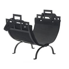 Style Selections Wrought Iron Log Holder with Canvas Tote