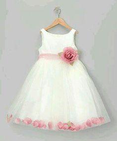 53e91d892d1 Pink rose petals Little Girl Fashion