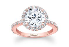 Rose Gold Engagement Ring from Barkev's. maybe with a square cut or emerald cut though? -SS