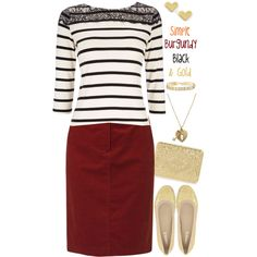 A fashion look from September 2014 featuring Wallis tops, Gerry Weber Edition skirts and Andrew Stevens flats. Browse and shop related looks.