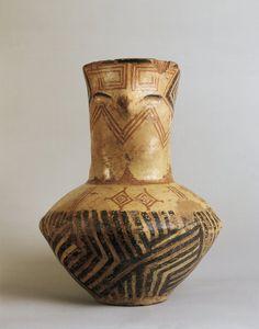 Prehistory Bulgaria Neolithic 7th6th millennium bC Anthropomorphic terracotta vase from Gradesnica