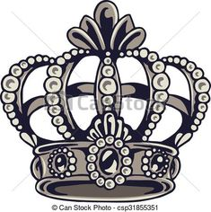 Crown vector image on VectorStock Crown Tattoos For Women, Couples Ring Tattoos, Couple Tattoos, Hand Tattoos, Small Tattoos, Sleeve Tattoos, Bold Jewelry, Ear Jewelry, Crown Outline