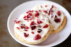 Cranberry Bliss Cookies ~ Just made a batch of these and they are wonderful! I added the zest of one orange to the icing which added a fresh zip.
