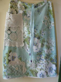 Vintage Fabric Skirt-like the lace pocket